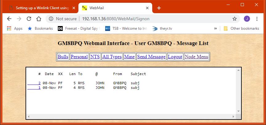 Setting up a Winlink Client using LinBPQ