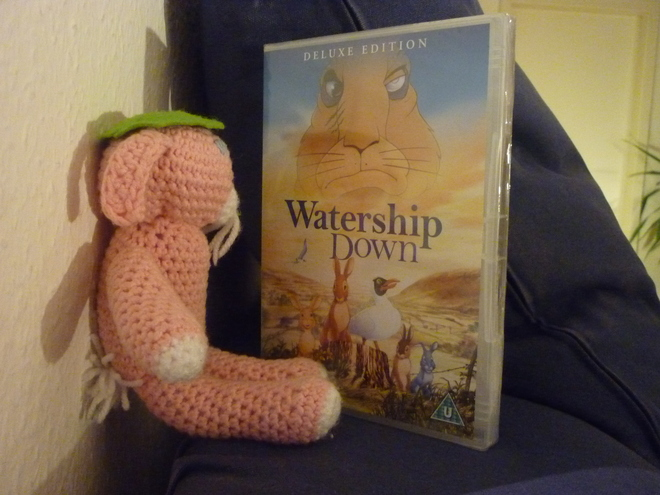 [rabbit with Watership Down DVD]